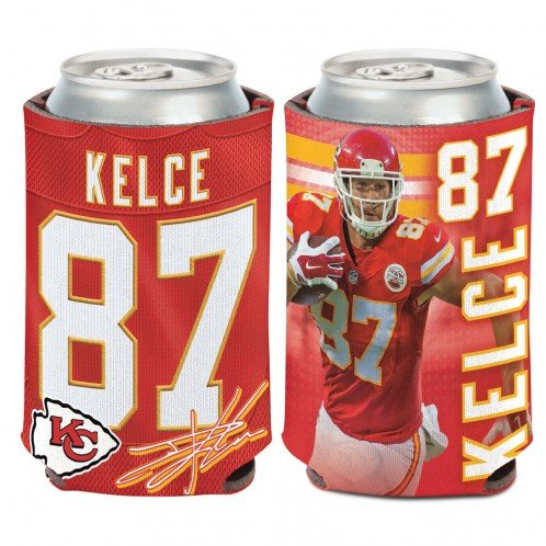 NFL Kansas City Chiefs Can Cooler 12 oz. Travis Kelce Limited Can Koozie 553f492d3