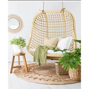 Gentil Double Seated Rattan Hanging Chair, Handcrafted In Vietnam
