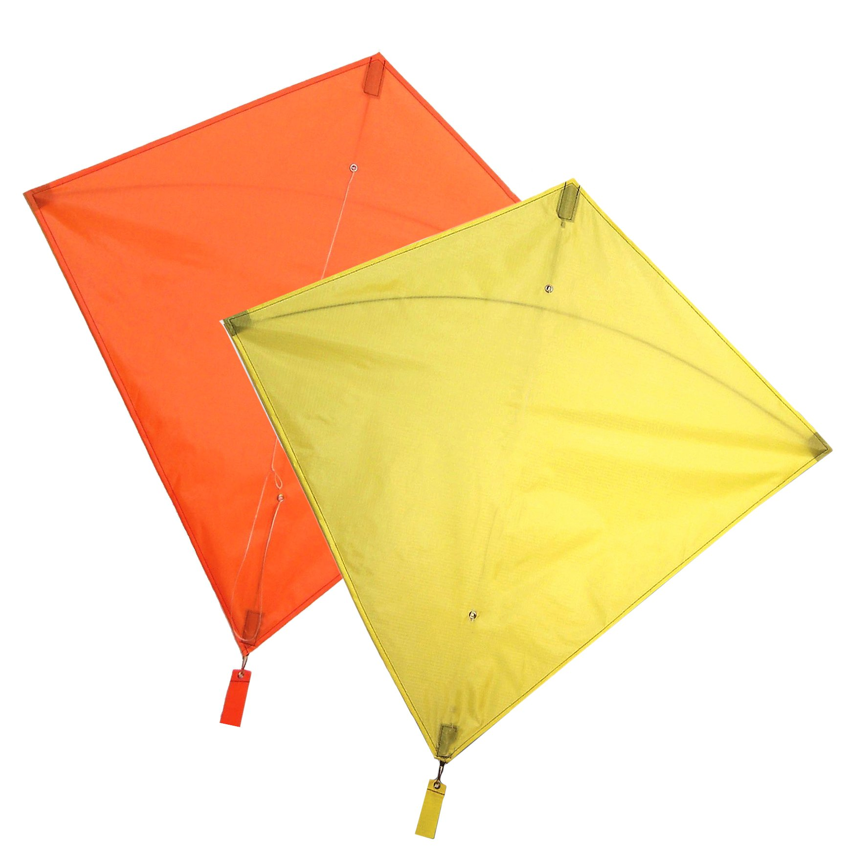 Maven Gifts: In The Breeze 2-Pack Kite Bundle – 30-Inch Orange Colorfly Diamond Kite with 30-Inch Yellow Colorfly Diamond Kite – Great for Beginners and Kids