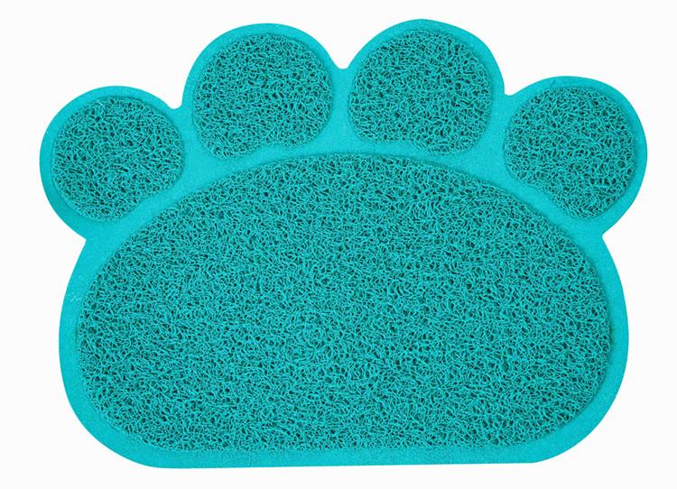 Pet Cool Mat in summer plastic mat paw shaped mat