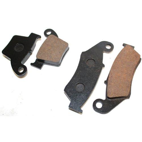 Caltric FRONT REAR BRAKE Pads Fits HONDA CR125 CR 125 CR125R CR 125R 2002-2007 FRONT REAR Pads