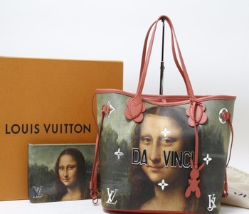 5aea248e0ae5 Used LOUIS VUITTON M43373 DA VINCI Neverfull Denim Line  Sell used original  brand bag in