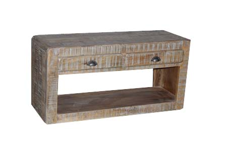 Vintage Natural Wooden Made Low Height Coffee Table With Drawers Tables Wood