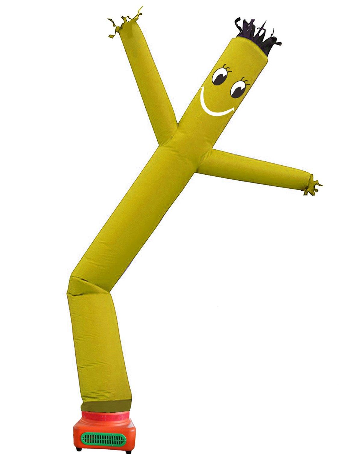 10 Feet Promtion single leg Tube Cartoon,Sky Puppet tube man Dancer, Advertising Windy Moving Dancer Man,inflatable wave man (orange)