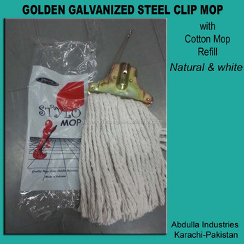 GOLDEN CLIP MOP very economical With Changeable Refill Deck Mop - Cotton Mop