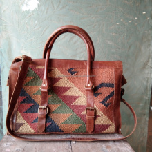 Classic collection of moroccan kilim vintage jute travelling bags for men