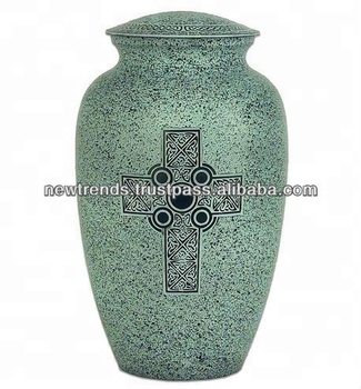 Brass Cross Cremation Urns