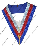 Masonic French rite AASR worship master collar