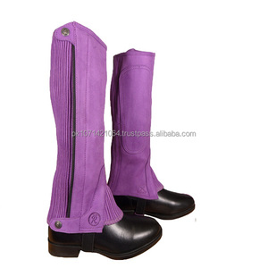 ADULTS HORSE RIDING AMARA SUEDE HALF CHAPS