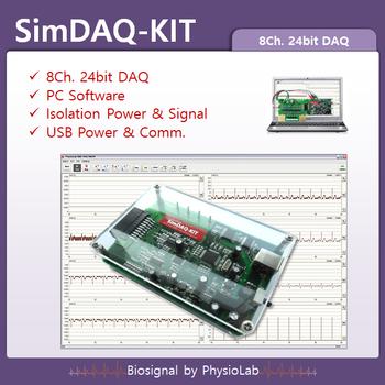 Simdaq-kit / Biosignal Daq / 8 Channel Daq / 24bit Adc / Isolation Daq / Pc  Based Daq - Buy 8 Channel Daq  24bit Adc  Isolation Daq  Biosignal Daq  Pc