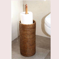 Toilet roll holder paper made of 100% natural rattan in Vietnam