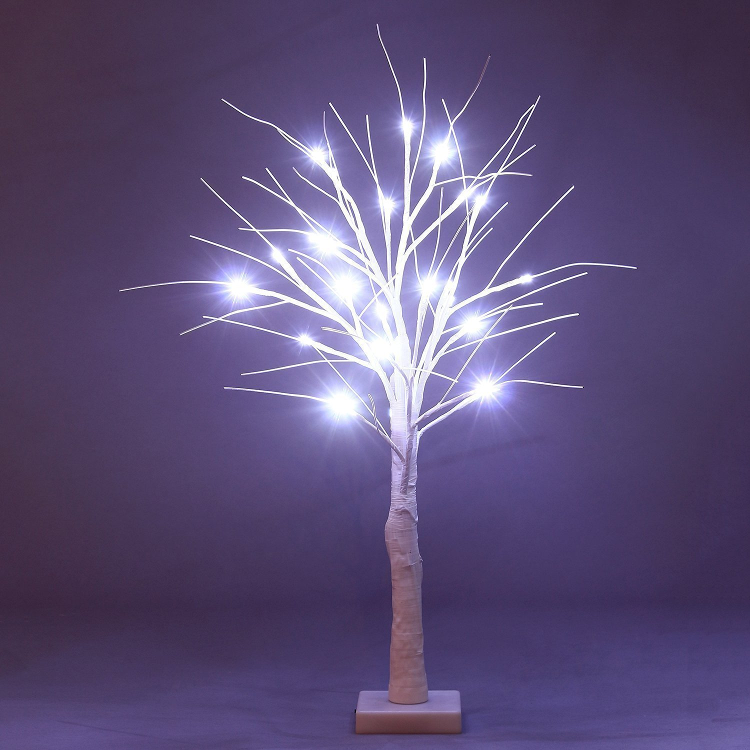 Fashionlite Birch Tree Light Bonsai LED Light Decorative Night Light Lamp for Home,Party,Wedding and Christmas Use, 24-Inch,Warm white