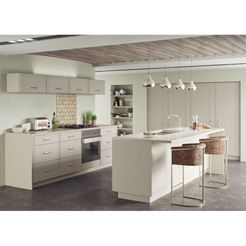 China Made Wholesale Pvc Modular Kitchen Cabinets With Island View Modular Kitchen Cabinet Alland Product Details From Alland Building Materials Shenzhen Co Ltd On Alibaba Com