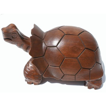 Turtle statue handmade sculptures and hand carved wood animals art