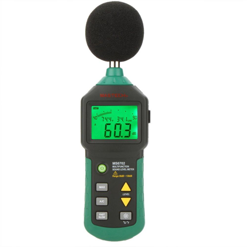 MASTECH MS6702 Decibel Meter Sound Level Reader Temperature Humidity Meter Thermometer