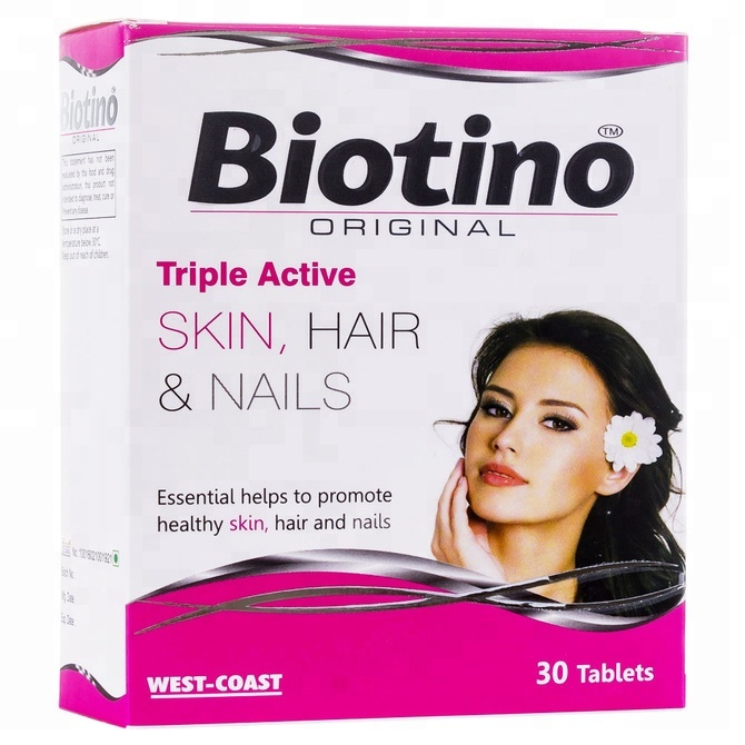 Beauty Supplements Biotino Original Tablets Triple Active Supplement for Skin Hair Nails