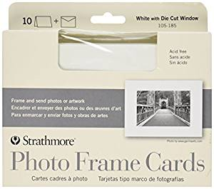 Strathmore Photo Frame Cards and Envelopes, 5 x 7 Inches, White, 10-Pack (105185) by Strathmore