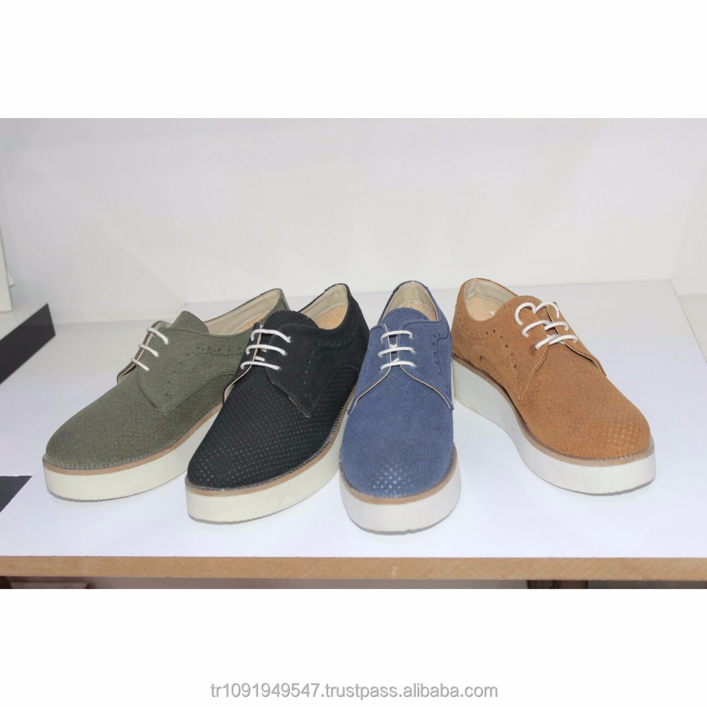 Handmade Fashion Breathable Shoes Suede Leather New Platform Sports Green gOBdq77W8