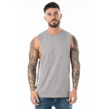 c0a636f2d5557 New Design Gym Cut Off Tee Men Singlet Weightlifting Vest Tank Top ...