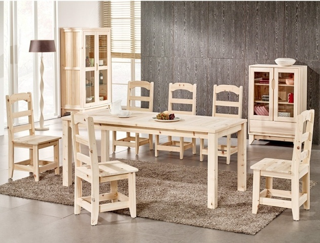 KITCHEN TABLE AND CHAIRS HINOKI CYPRESS