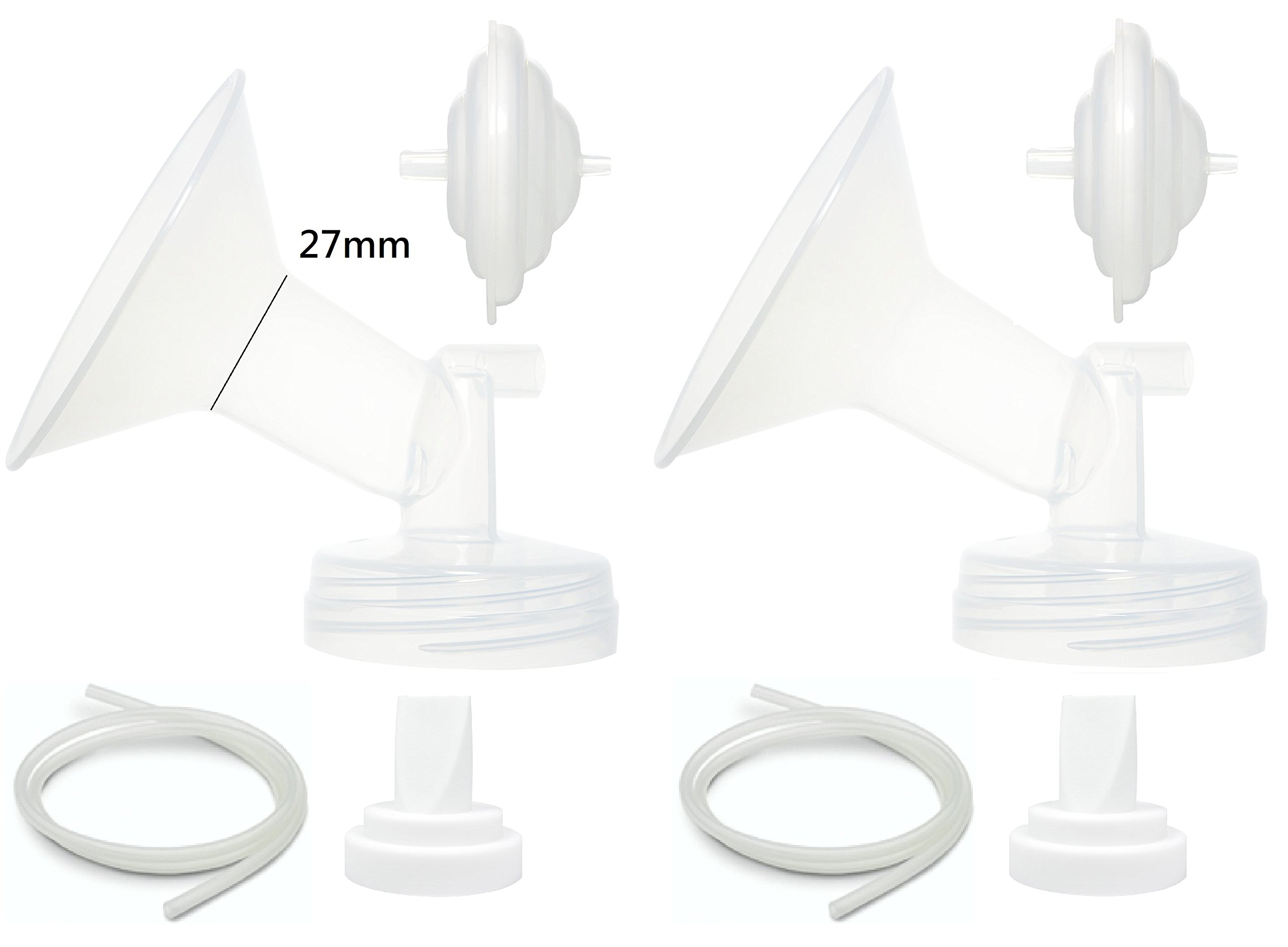 Nenesupply repuesto de bomba de repuesto para Spectra S2 Spectra S1 Spectra 9 Plus brida de v/álvula de tubo protector de reflujo no piezas originales Spectra Talla:Flange 19mm XS