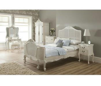 Uberlegen Französisch Provincial Luxus Geschnitzten Bett Set, Weiß Schlafzimmer Möbel  Set