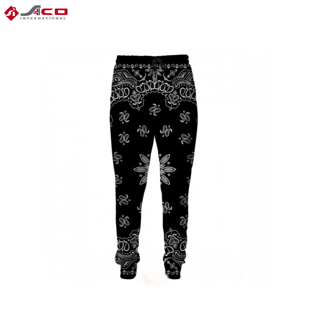 New Custom Design Sublimated Sweat Track Pants