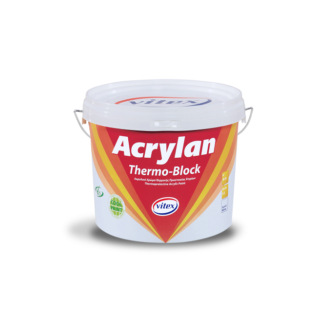 Acrylan Thermoblock-heizsystem 10 lt Acryl, Wasser Isolierende, Thermoprotective Farbe-Gebäude Beschichtung