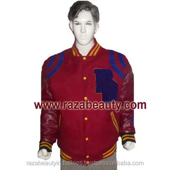 Maroon Varsity Jackets / Burgundy Baseball Jackets - Buy Custom ...
