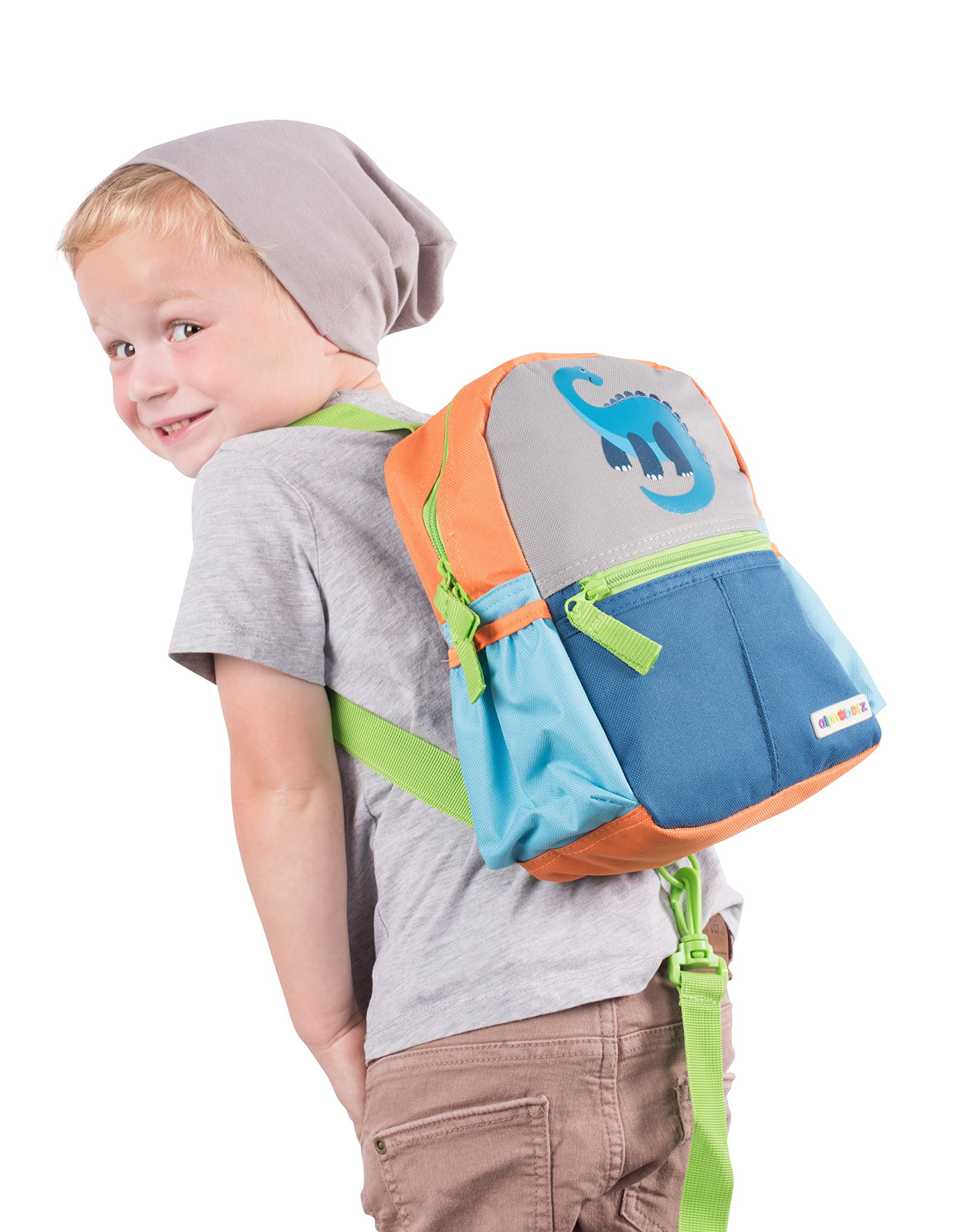Get Quotations · Alphabetz Dino Toddler Backpack with Safety Harness Leash 05bae9f338ad8