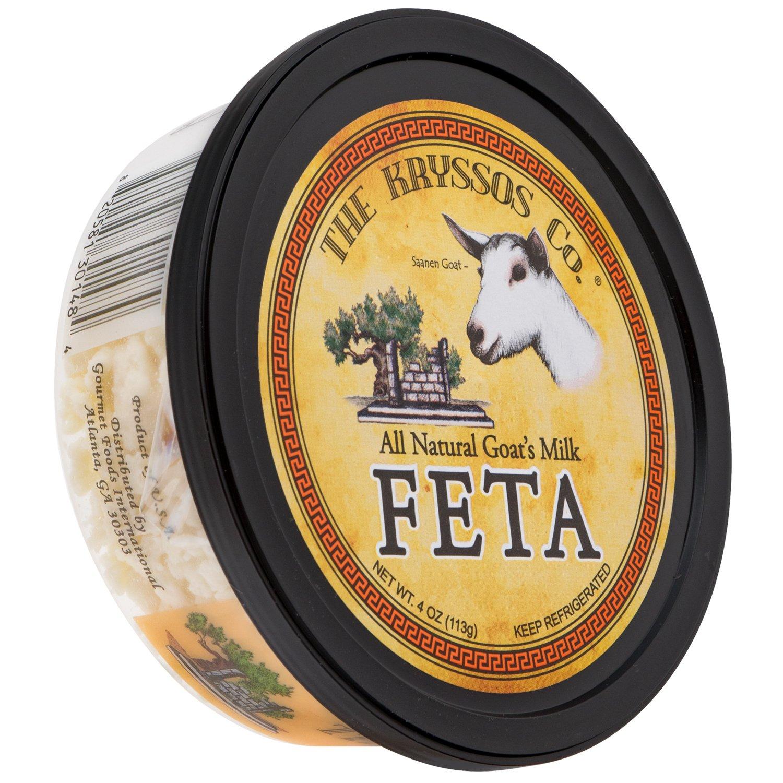 Kryssos Crumbled Goat Milk Feta Cheese, 4 oz