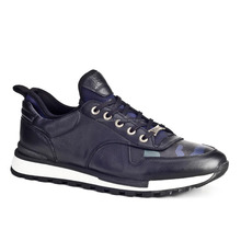 Leather Men Casual Sneakers Shoes 460E1181