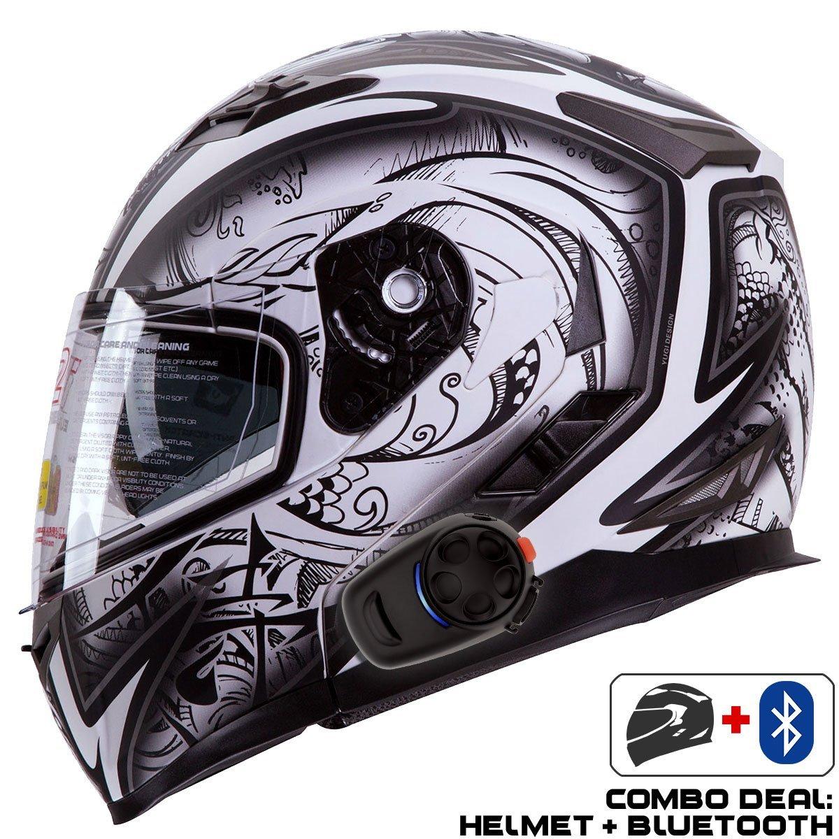 de05294a Buy IV2 Helmet + Bluetooth Combo: Model 936 Modular/Flip-Up High ...
