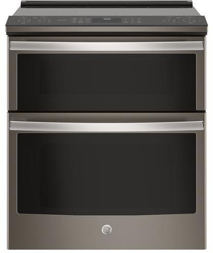 GE Profile PS960ELES 30 Inch Slide-in Electric Range with Smoothtop Cooktop, 6.6 cu. ft. Primary Oven Capacity in Slate