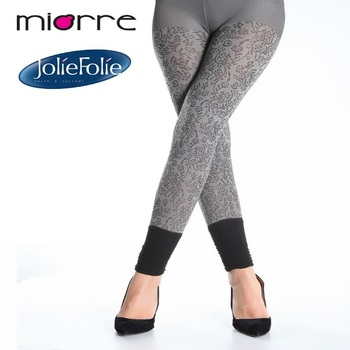 Miorre Oem Women's Pants Tights Collection Patterned Grey Tights New Women's Patterned Tights