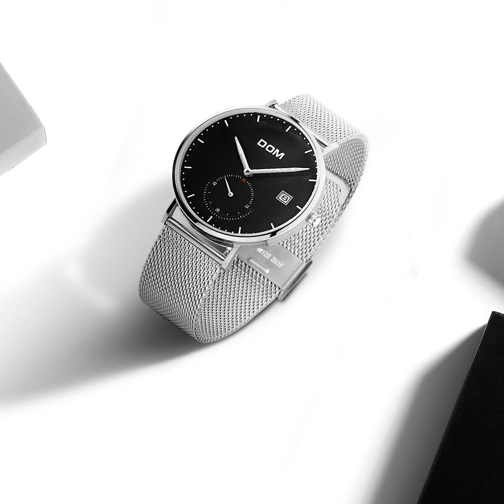 acc6d0399 Hombre de China Japón fábrica 3atm impermeable Japón movt reloj de cuarzo  de acero inoxidable