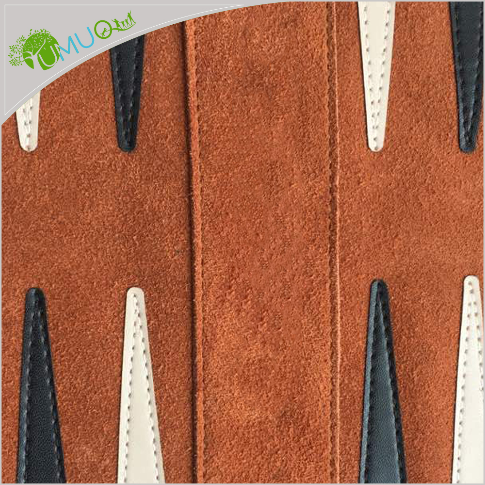 YumuQ Classic Roll Up Suede Leather Reise Travel Backgammon Board Games Sets