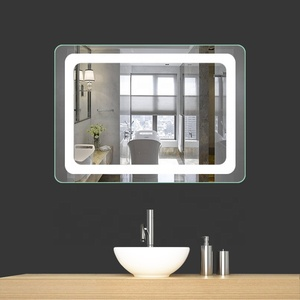China Hotel Wall Mounted Touch Sensor Lighted Led Bathroom Mirror with Defogger