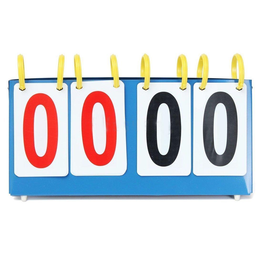 4 Digit Scoreboard - TOOGOO(R)Portable 4 Digit Scoreboard Sports Flip Score Board Basketball Scorer Tennis