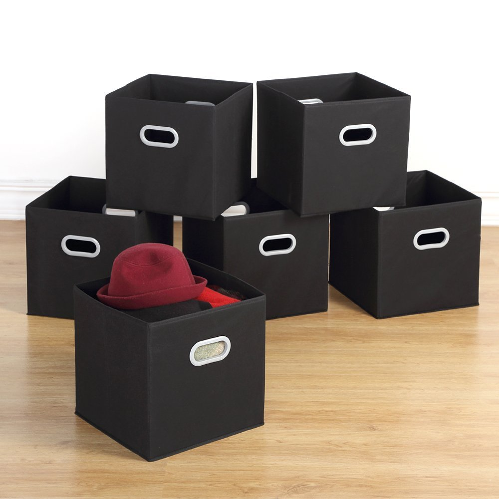 Get Quotations · Housen Solutions Storage Bins   Collapsible Storage Cube  Organizer, Nonwoven Basket Container Fabric Drawers Set