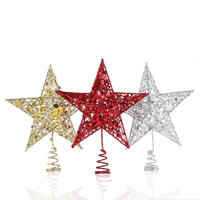 Amazon Hot Sale Star Shape Decoration Christmas tree topper