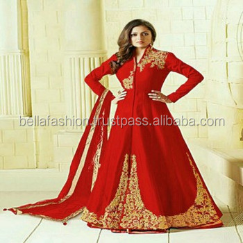 33383fce80 Beautiful Modern Fashion Designer Indian and Pakistani Wedding and Party  Wear Anarkali Style Gown