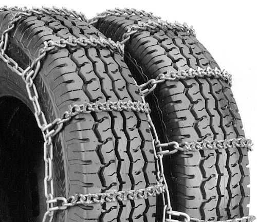 Security Chain Company QG3810 Quik Grip Wide Base V-Bar Type RD Light Truck Tire Traction Chain Set of 2
