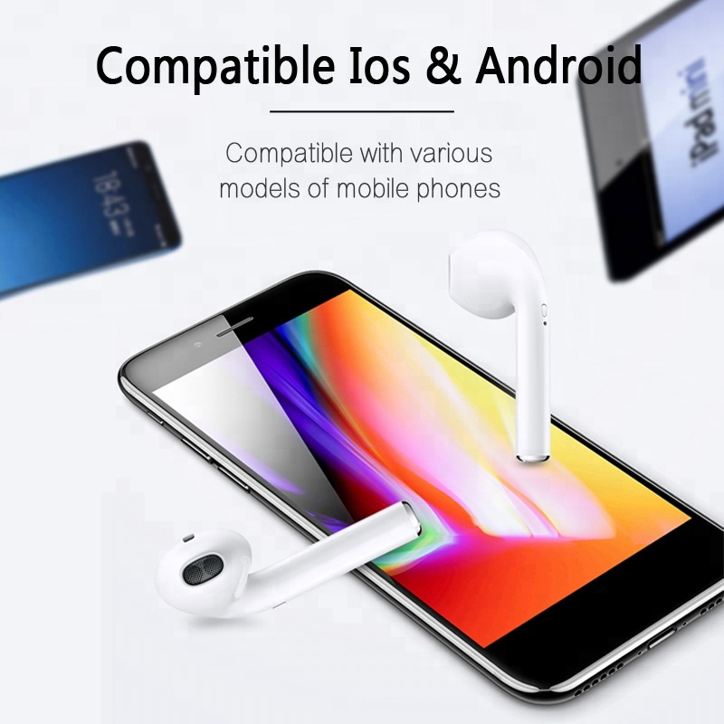 3-hours-listening i7s i10 i12 TWS wireless earphone headphone with bluetooth earbud hot for amazon ebay 2019 trending product