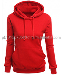 Winter Season Women Ladies Fitted Pullover Poly Cotton Fleece Hoodie