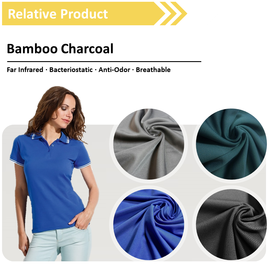 Coupon Biodegradable moisture wicking shirts cotton bamboo spandex rayon knitted fabric 160gsm