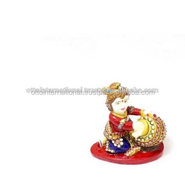 Wooden Carving Krishna/Wooden Colorful Krishna/Wooden Handcrafts