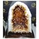Natural Brazilian Citrine geode crystal Mountain Shaped Cave for decoration