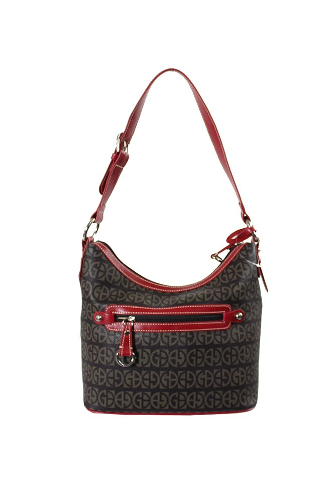 6b1ad95001d80 Get Quotations · Giani Bernini Womens Leather Signature Hobo Handbag Red  Large
