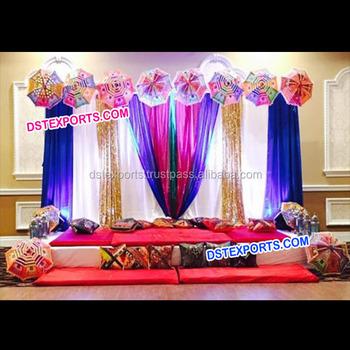 Wedding mehandi stage decoration propsrajasthani umbrella mehandi wedding mehandi stage decoration propsrajasthani umbrella mehandi sangeet stagedifferent style mehandi stage junglespirit Images